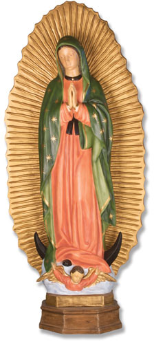 Our Lady of Guadalupe Statue - 56 Inch - Painted Fiberglass