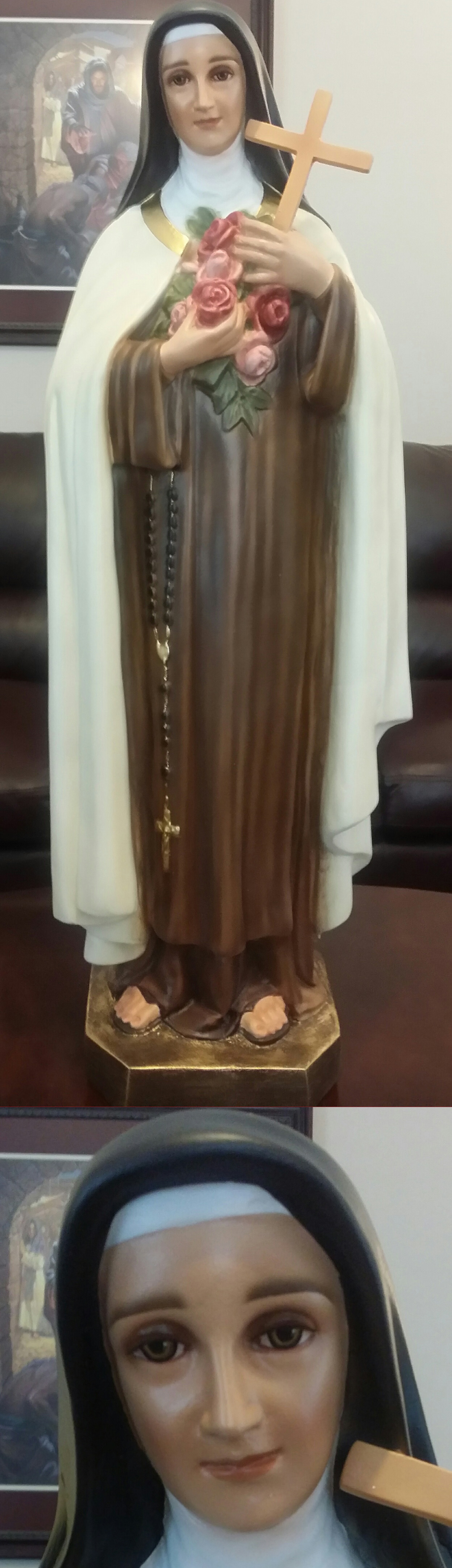 St Therese Statue The Little Flower 36 Inch Indoor Use ly Made of