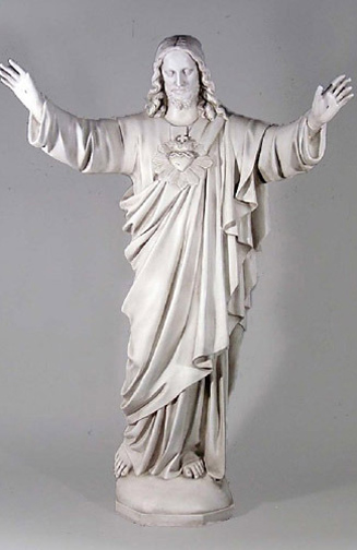Sacred Heart Of Jesus Statue Raised Arms Blessing 60