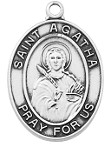 St. Agathat Medals - Patron Saint of Nurses, Breast Cancer and Rape