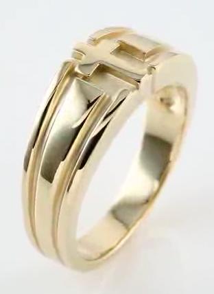 Mens Cross Wedding Ring Band
