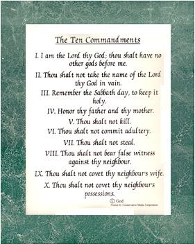 product ten commandments art poster print 11 x 14 sku pi ten 1 $ 7
