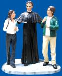 St. John Bosco With Children Church Statue - 79 Inch - Hand-painted Polymer Resin