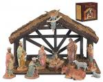 Nativity Set With Wood Stable by DiGiovanni - 12 Piece - 6 Inch Figures