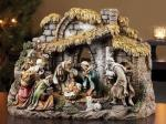 Nativity Set - 10 Piece - 6 Inch Figure Scale - Made of Stone Resin