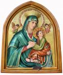 Our Lady of Perpetual Help Plaque - 36 Inch - Hand-painted Polymer Resin