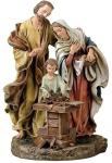 Holy Family Statue - 9.5 Inch - Resin Stone Mix