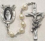 St. Therese Rosary - Glass Pearl With Photo - Size 6MM