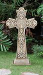 Outdoor Garden St. Benedict Cross - 24 Inch - Stoneresin