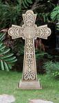 Outdoor Garden St. Benedict Cross - 24 Inch - Stoneresin