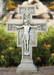 Outdoor Garden San Damiano Crucifix - 23.5 Inch - Stoneresin