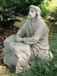 Jesus in the Garden of Gethsemane Outdoor Garden Church Statue - 25 Inch - Faux Stone Looking Resin