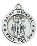 St. Michael Saints Medal - Sterling Silver - 3/4 Inch - Patron Saint of Police