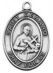 St. Gerard Medal - Patron Saint of Expectant Mothers - Sterling Silver - 1 Inch with 18 Inch Chain