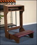 Padded Prayer Kneeler - Dark Walnut Stain - 32 Inch H x 20 Inch W