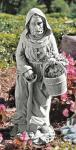 St. Fiacre Outdoor Garden Statue - 24.5 Inch - Resin - Patron Saint of Gardeners