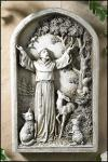 St. Francis Outdoor Garden Plaque - 13 Inch - Resin - Patron of Animals