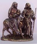 Flight To Egypt Statue - 10.5 Inch - Resin Dipped In Bronze & Slightly Hand-painted
