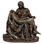 Pieta Statue -  31 Inch - Lightly Hand-painted Cold-cast Bronze Resin - Veronese Collection