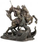 St. George Statue - 32 Inch - Lightly Hand-painted Cold Cast Bronze - Veronese Collection