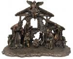 Nativity Set Creche - 11 Piece - Cold-cast Bronze - Veronese Collection