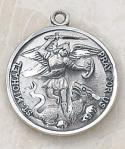 St. Michael Saints Medal - Sterling Silver - 13/16 Inch - Patron Saint of Police