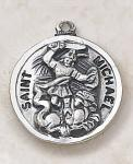 St. Michael Saints Medal - Sterling Silver - 11/16 Inch - Patron Saint of Police