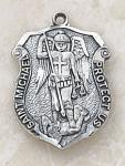 St. Michael Saints Medal Badge - Sterling Silver - 5/8 Inch - Patron Saint of Police