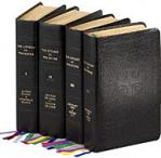 Liturgy of the Hours - Hardcover Book - 4 Volume Set - Black Leather