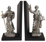 St. Paul & St. Peter Bookends Statues - 9.5 Inch Each - Veronese Collection