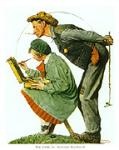 The Critic Art Poster Print by Norman Rockwell
