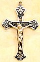 Crucifix - Sterling Silver - 1.75 Inch with 24 Inch Chain