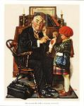 Doctor And The Doll Art Poster Print by Norman Rockwell