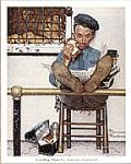 Feeding Time Art Poster Print by Norman Rockwell