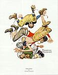 First Down Art Poster Print by Norman Rockwell
