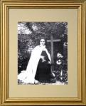 St. Therese of Saint Therese of Lisieux Gold Framed Print - 13 x 15.5 Inch