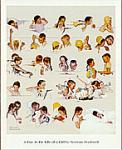 Day In The Life of A Girl Art Poster Print by Norman Rockwell