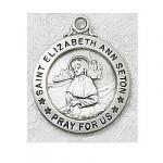St. Elizabeth Ann Seton Medal - Sterling Silver - 3/4 Inch with 20 Inch Chain