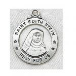 St. Edith Stein Medal - Sterling Silver - 7/8 Inch with 20 Inch Chain