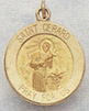 St. Gerard Medal - 14 KT Gold - 1/2 Inch Without Chain