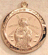 St. Jude Medal - 14 KT Gold - 3/4 Inch Without Chain