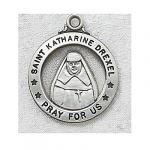 St. Katherine Drexel Medal - Sterling Silver - 7/8 Inch with 20 Inch Chain