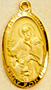 St. Mark Medal - Gold Plated - 1 Inch With 24 Inch Chain