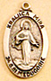 Our Lady of Medjugorje Medal - Sterling Silver - 7/8 Inch with 18 Inch Chain