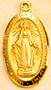 Miraculous Medal Gold Plated Medal - 7/8 Inch with 18 Inch Chain