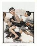 No Swimming Art Poster Print by Norman Rockwell