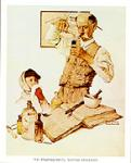 The Pharmacist Art Poster Print by Norman Rockwell