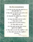 Ten Commandments Art Poster Print 11 x 14
