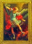 St. Michael Floretine Plaque 5 x 7 Inch