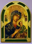 Our Lady of Perpetual Help Florentine Plaque 12 x 15.5 Inch